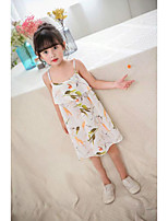 Girl's Print Lattice Dress,Cotton Summer Sleeveless