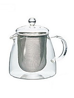 HARIO Japan Imported Hot-resistant Glass with Stainless Steel Filter Teapot