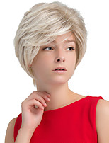 Enchanting High Quality Greyish white Short Hair Synthetic Wig