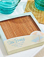 Beach Party Bamboo Coasters (4pcs/box) 10*10*1cm/box Beter Gifts® Life Style