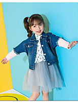 Girls' Solid Color Suit & Blazer,Cotton Summer All Seasons Long Sleeve