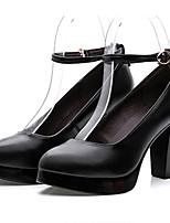 Da donna Tacchi Scarpe formali Di pelle Primavera Autunno Scarpe formali Quadrato Nero 12 cm e oltre