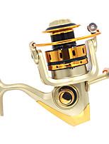 Carrete de la pesca Carretes para pesca spinning 5.1:1 10 Rodamientos de bolas IntercambiablePesca de Mar Pesca a la mosca Pesca de