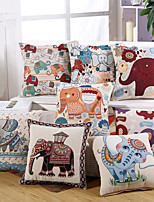 9 Style Baroque Vintage Elephant Pillow Covers Creative Pillow Case Cotton/Linen