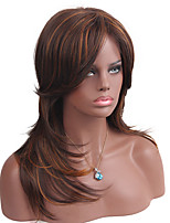 MAYSU Mixed Color High Level Partial Fringe   Synthetic Wig