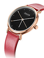Women's Fashion Watch Bracelet Watch Japanese Quartz Water Resistant / Water Proof Leather Band Casual Black White Blue Red Brown