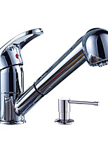 Contemporary CentersetCeramic Valve Single Handle One HoleKitchen faucet