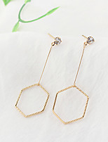 Women's Drop Earrings Zircon Euramerican Fashion Cooper Geometric Jewelry For Daily 1 Pair
