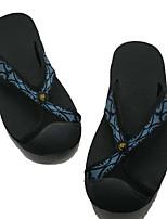 Masculino Chinelos e flip-flops Tecido Primavera Cinzento Verde Tropa Azul Rasteiro