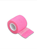 Disposable Self-adhesive Elastic Bandage Tattoo Grip Cover Rose Red Color 5*450cm