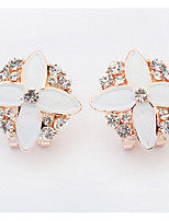 Bohemian  Fashion  Elegant  Rhinestone  Flower  Earrings  Lady  Party  Movie  Jewelry