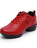 ללא התאמה אישית נשים מודרני עור נעלי ספורט חיצוני פרחים שטוח לבן שחור אדום 5 - 7 ס