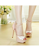 Women's Heels Comfort PU Leather Spring Casual Blushing Pink Blue White Flat
