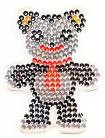1PCS 5MM Fuse Beads Clear Template Pegboard Stencil Teddy Bear Shape Hama Perler Beads Pegboard Kid DIY Handmaking Educational Craft Jigsaw Toy