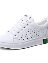 Women's Sneakers Comfort Cowhide Spring Summer Outdoor Casual Flat Heel Green Black Flat