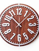 Ретро Деревенская тема Настенные часы,Круглый В помещении Часы