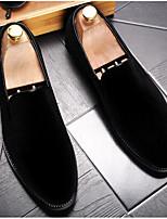 Men's Loafers & Slip-Ons Comfort Suede Spring Casual Black Green Burgundy Flat