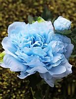 3 Pièces 3 Une succursale Soie Pivoines Fleur de Table Fleurs artificielles