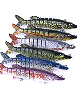 6 pcs Hard Bait Crocodile Jerkbaits Minnow Assorted Colors g/Ounce mm inch,Hard PlasticSea Fishing Spinning Trolling & Boat Fishing Lure