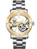 Муж. Часы со скелетом Модные часы Механические часы С автоподзаводом Защита от влаги Фосфоресцирующий сплав Группа Серебристый металл