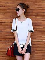 Damen einfarbig Gestreift Einfach Lässig/Alltäglich T-Shirt-Ärmel Hose Anzüge Sommer Kurzarm