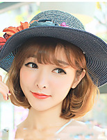 Women Beach Fashion Flower Sunflower Blooming Sun Holiday Sunscreen Summer Folding Straw Hat