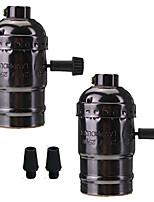 2 יח 'e26 / e27 שקע בורג נורות אדיסון רטרו תליון המנורה מחזיק עם מתג 110-240v עבור המנורה או החלפת מקרן פרויקטים DIY
