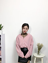 Women's Casual/Daily Sexy Simple Spring Summer Shirt,Solid Boat Neck Long Sleeve Others Thin