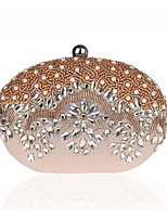Women Evening Bag Polyester All Seasons Formal Event/Party Wedding Minaudiere Crystal/ Rhinestone Clasp LockRuby Silver Black Gold