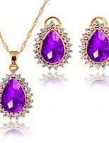 Jewelry Set Necklace Bridal Jewelry Sets AAA Cubic Zirconia Euramerican Fashion Simple Style Classic Cubic Zirconia Rhinestone Zinc Alloy