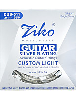 Ziko Acoustic Guitar Strings Set DUS011 Silver Plating 6 Strings For Acoustic Guitar Parts Musical Instruments