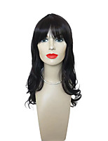 Capless Black Long Deep Wavy Wig  Women Costume Wig