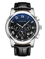 Муж. Часы со скелетом Модные часы Механические часы С автоподзаводом Календарь Защита от влаги Фосфоресцирующий Кожа Группа ЛюксЧерный