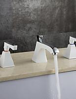 Contemporain Décoration artistique/Rétro Moderne Diffusion large Douche pluie Séparé Thermostatique with  Soupape en laitonDeux poignées