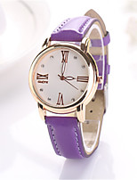 Women's Fashion Watch Quartz PU Band Blue Green Purple