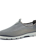 Men's Sneakers Comfort Breathable Mesh Tulle Spring Casual Dark Grey Light Grey Light Blue Flat
