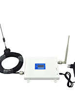Dual Band W-CDMA 2100mhz UMTS GSM 900mhz Cell Phone Signal Booster 2G 3G Signal Repeater with Whip Antenna / Sucker Antenna / LCD Display / White