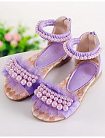 Girls' Flats Comfort Leatherette Spring Fall Outdoor Casual Walking Magic Tape Low Heel Blushing Pink Purple White Flat