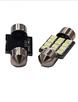 1W White DC12V 39MM Festoon 12SMD 2835 Dome Light Rreading Light License Plate Light 2PCS