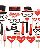 33pcs Valentine's Day Party Photo Booth Props Photobooth Party Decoration