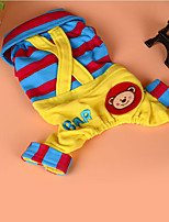 Dog Harness Dog Clothes Cute Casual/Daily Cartoon Blue Fuchsia Yellow