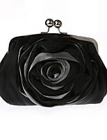 Hand bag fold silk chiffon lace flowers dress package The chain bride package single shoulder bag