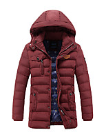 Men's Regular Padded Coat,Vintage Simple Daily Casual Striped-Cotton Cotton Long Sleeve