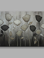 IARTS®Hand Painted Grey Flowers Oil Painting with Stretched Frame For Home Decoration