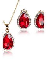 Women's Jewelry Set Pendant Necklaces Bridal Jewelry Sets AAA Cubic Zirconia Euramerican Fashion Adorable Classic Rhinestone Zinc Alloy