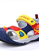 Для мальчиков Сандалии Удобная обувь Термопластик Лето Повседневные Удобная обувь Животные принты На плоской подошвеТемно-красный