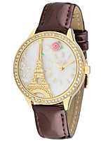 Women's Fashion Watch Quartz Digital Water Resistant / Water Proof PU Band White Brown Pink