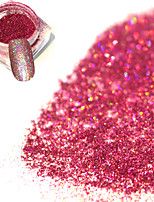 1bottle Fashion Sweet Style Rose Red Laser Glitter Holographic Fine Powder Shining Decoration DIY Charm Nail Art Shining Pigment JX01