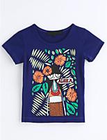 Mädchen T-Shirt Geometrisch Druck Baumwolle Sommer Kurzarm
