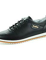 Da uomo Sneakers Comoda PU (Poliuretano) Primavera Autunno Sportivo Comoda Lacci Piatto Bianco Nero Marrone Piatto
